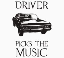 Driver picks the music (Supernatural) Kids Tee