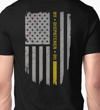 911 Dispatcher Thin Gold Line Unisex T-Shirt