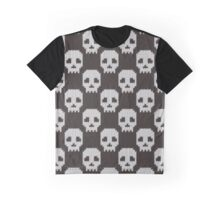 Knitted skull pattern Graphic T-Shirt