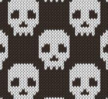 Knitted skull pattern Sticker