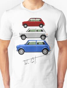 Classic Mini Cooper red white and blue T-Shirt