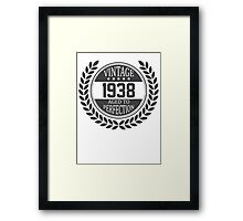 Vintage 1938 Aged To Perfection Framed Print