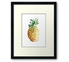 Pineapple Summer Watercolor Painting Hawaii Fruits Drawing Poster Framed Print