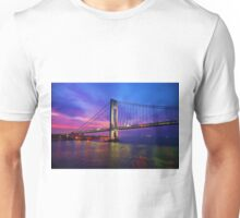 Verrazano Narrows Bridge Digital water color Unisex T-Shirt