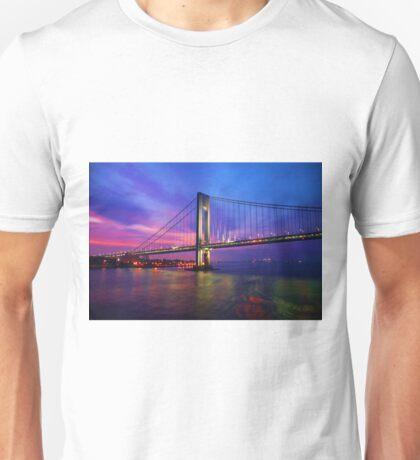Verrazano Narrows Bridge Digital water color Unisex T-Shirt