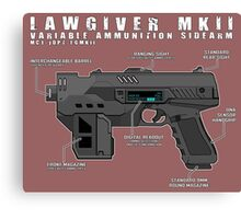 Lawgiver MKII Schematic Vector Canvas Print