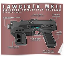 Lawgiver MKII Schematic Vector Poster