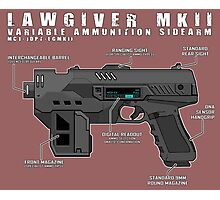 Lawgiver MKII Schematic Vector Photographic Print