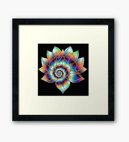 Psychedelic Lotus Framed Print