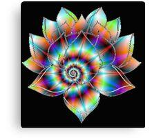 Psychedelic Lotus Canvas Print