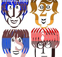Typortraiture The Beatles by sethworx