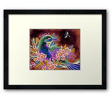 Paradise Bird in Blossoms Framed Print