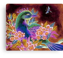 Paradise Bird in Blossoms Canvas Print