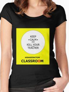 ASSASSINATION CLASSROOM Women's Fitted Scoop T-Shirt