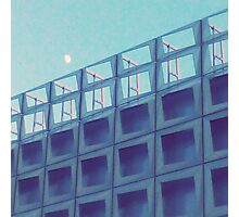 Moon Over Stadium  Photographic Print