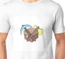 Pickaxe, Axe and Chest Unisex T-Shirt
