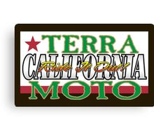 Terra Moto - California Canvas Print