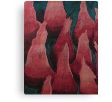 Painting Macrophoto Human Tongue Canvas Print
