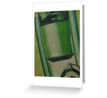Painting Motorcycle Engine Part Greeting Card