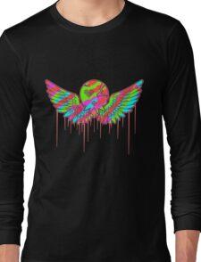 Wing Rainbow Skull Long Sleeve T-Shirt