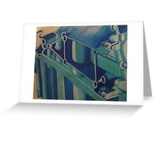Painting Ford GT Engine Part Greeting Card