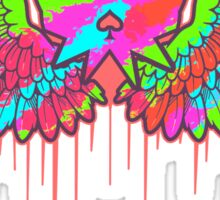 Wing Rainbow Skull Sticker