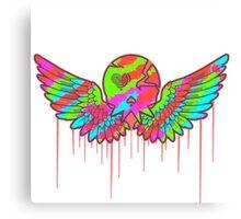 Wing Rainbow Skull Canvas Print