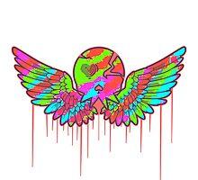 Wing Rainbow Skull Photographic Print