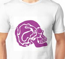stylized colored human skull Unisex T-Shirt