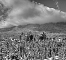 Castle among the Clouds in grey (1) by JamesA1