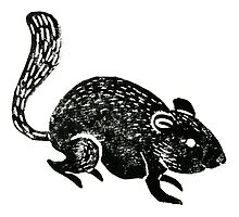 Dormouse Lino Print by Hazel Partridge