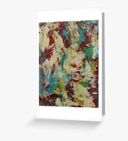 Abstract Blue & White Greeting Card
