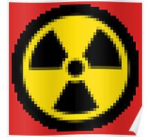 PIXELATED Nuclear Logo Poster