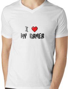 I Love My Gamer Mens V-Neck T-Shirt