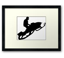 snowmobile : silhouettes Framed Print