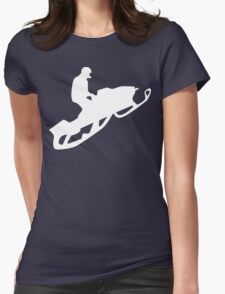 snowmobile : silhouettes Womens Fitted T-Shirt