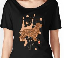 Golden Retriever Word Type Women's Relaxed Fit T-Shirt
