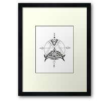 Lotus Compass Framed Print