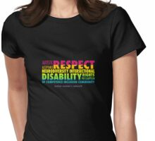 Rainbow Word Cloud Womens Fitted T-Shirt