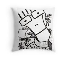 Old Descendents Flyer Throw Pillow