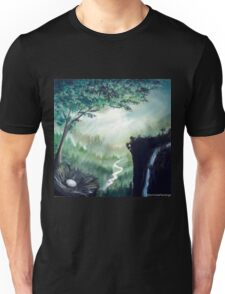 Forest, river, tree and nest... Unisex T-Shirt