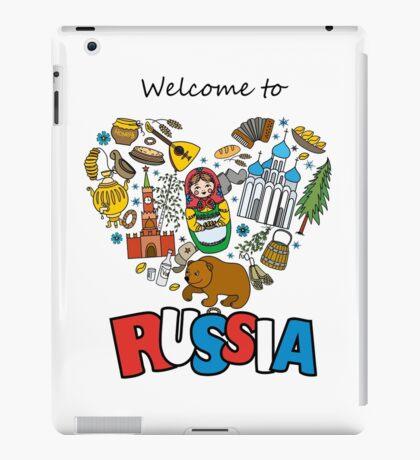 Welcome to Russia. Russian symbols, travel Russia iPad Case/Skin