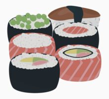 Set of different Sushi rolls Kids Tee