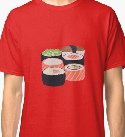 Set of different Sushi rolls Classic T-Shirt