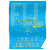 FLL Fort Lauderdale Airport Diagram Poster