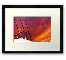 Arizona Sunset. Papers, please! Framed Print