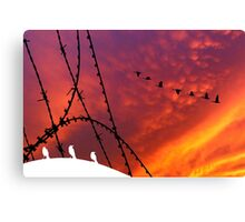 Arizona Sunset. Papers, please! Canvas Print
