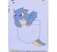 Blue pocket dragon iPad Case/Skin