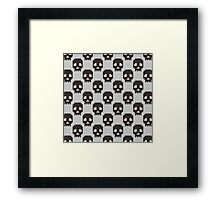 Knitted skull pattern Framed Print