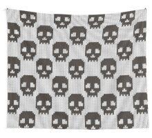 Knitted skull pattern Wall Tapestry